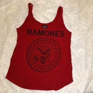 Retro RAMONES red tank top